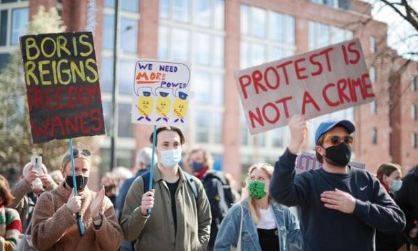 راهپیمایی سراسری در انگلیس علیه قانون جدید اعتراضات